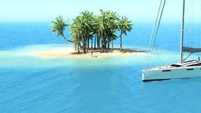 Snorkla i grunt tropiskt vatten Arkivbild