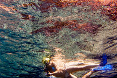 Snorkling Fotografia Stock Libera da Diritti