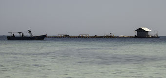 Snorkling area. Beautiful island for vacation in South Sulawesi, Indonesia Stock Photos
