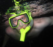 Snorkling in Bali. A nighttime snorkler in Bali, Indonesia Royalty Free Stock Photos