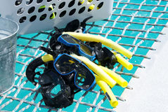 Snorkling equipment aboard Royalty Free Stock Photos
