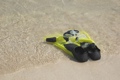 Snorkling Fins and Mask Royalty Free Stock Photos