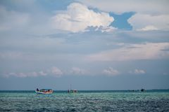 Snorkling Spot. A group of people at Snorkling spot at Thousand Island, Jakarta Indonesia Royalty Free Stock Images