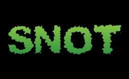 snot Gröna slambokstäver Hal bokstäver för Booger Snvel typo Royaltyfria Bilder