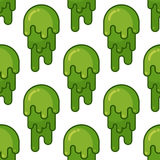 Snot seamless pattern. Snivel ornament. Booger background. Green Royalty Free Stock Images