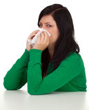 Snotty young woman Stock Image