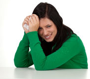 Snotty young woman Stock Photos