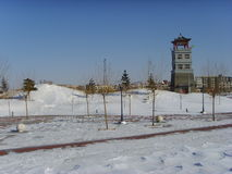 After the snow, Chinese northern cities Royalty Free Stock Image