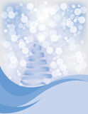 Snow. Winter snow scene with ribbon tree Stock Photography