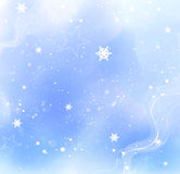 Snow. Blue christmas silvester card Stock Photography