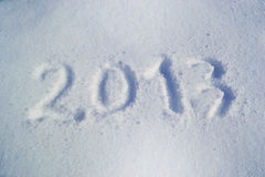 Snow 2013 New Year Royalty Free Stock Photography