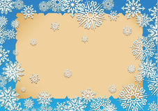 Snow. Vector illustration - a snowflakes frame Stock Photo