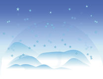 Snow. Vector blue and white snow/christmas background-eps file available Stock Images