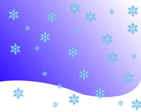 Snow. Scene royalty free illustration
