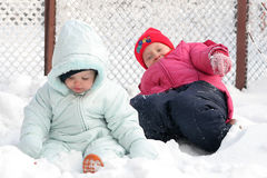On the snow Stock Photos