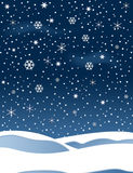 Snow. Illustration with star and snow Royalty Free Stock Photography