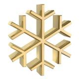 Snow. Golden snow in christmas Stock Photos
