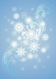 Snow. Vector snowflakes and frost pattern Royalty Free Stock Photos