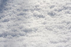 Snow. A closeup photo of snow - background, texture Royalty Free Stock Photos