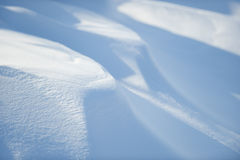 Snow. Patterns in blowing and drifting snow Royalty Free Stock Photo