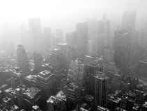 Snow above New York Royalty Free Stock Photography
