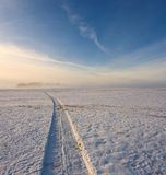 Snow abstract. Winter sky. Snow on the field Stock Image