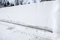Snow Accumulation on a Driveway #2 Stock Photo