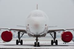 Snow at the airport royalty free stock photos