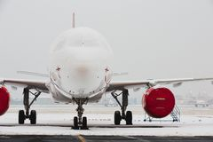 Snow at the airport Royalty Free Stock Image