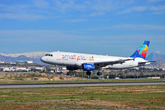 Snow At Alicante Airport Stock Image