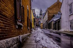 Snow on alley