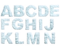 Snow alphabet. Letter from snow style alphabet. Isolated on white background. With clipping path Royalty Free Stock Image