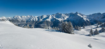 Snow in alps Stock Images