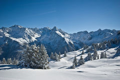 Snow in alps Royalty Free Stock Photos