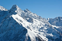 Snow in alps Royalty Free Stock Image