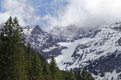 Snow in the alps Royalty Free Stock Images