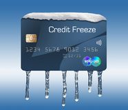 Free Snow And Ice On A Credit Card Illustrate The Theme Of Putting A Freeze On Your Credit Report. Stock Photo - 125623270