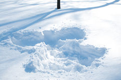 Snow Angel. After a snow storm Stock Photo