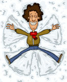 Snow angel. The man in the snow, vector Stock Image