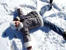 Snow Angel Royalty Free Stock Photos