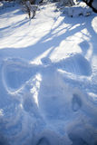 Snow angel Royalty Free Stock Photography