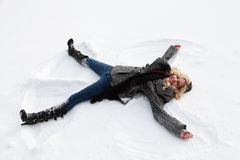 Snow Angel Royalty Free Stock Images