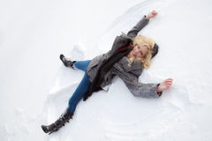 Snow Angel Stock Photo