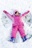 Snow Angel Stock Images