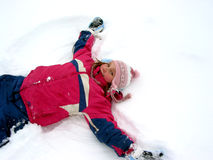 Snow angel Stock Photos