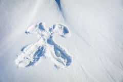 Snow angel background. In the morning Royalty Free Stock Images