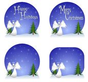 Snow Angel Backgrounds Royalty Free Stock Photo