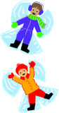 Snow-Angel Kids vector illustration