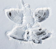 Snow angel made my little girl Royalty Free Stock Photo
