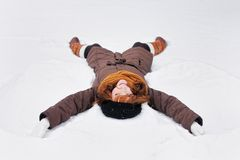 Snow angel Stock Image